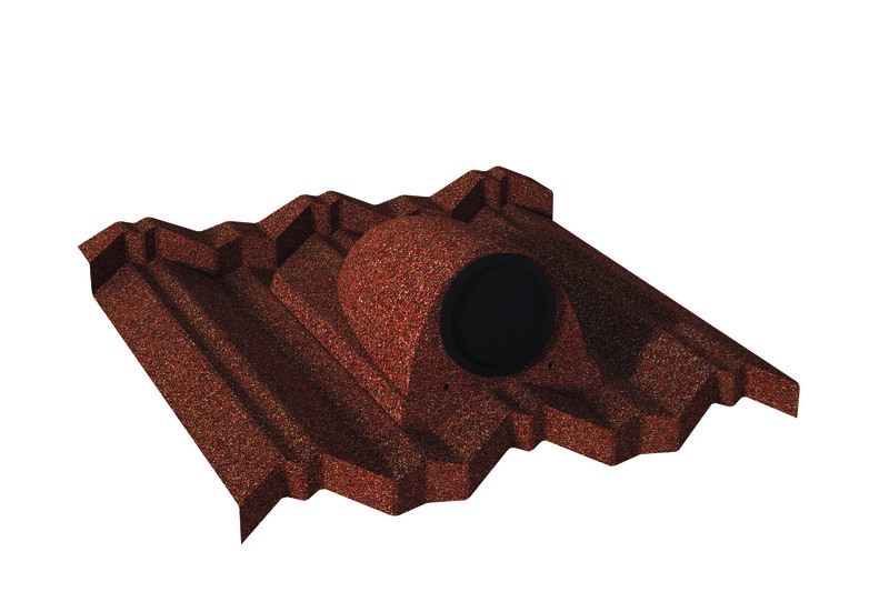 Dachówka przejściowa - 1 rura